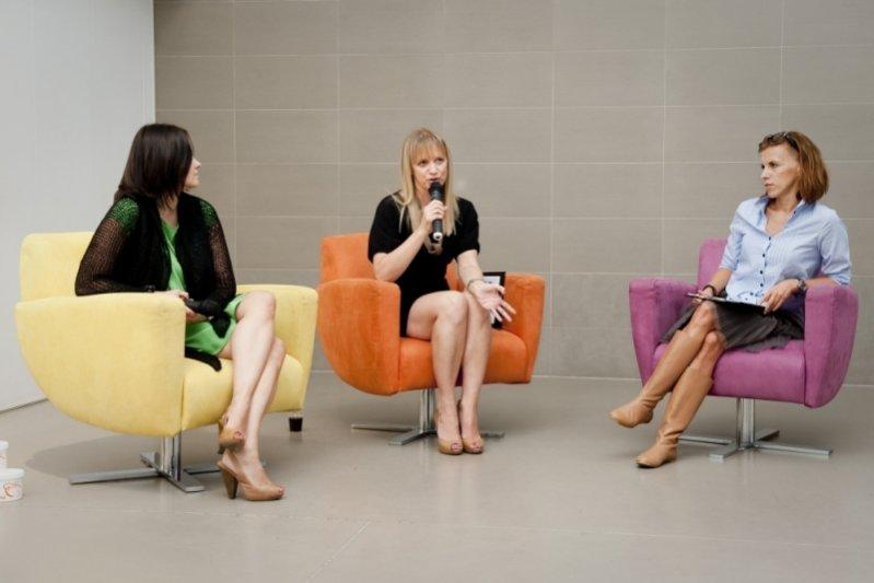 Marzena Rogalska na konferencji prasowej nowej linii produktów marki Gatta