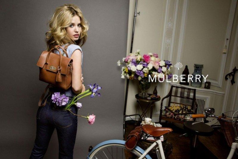 1. Georgia May Jagger w kampanii Mulberry wiosna lato 2015