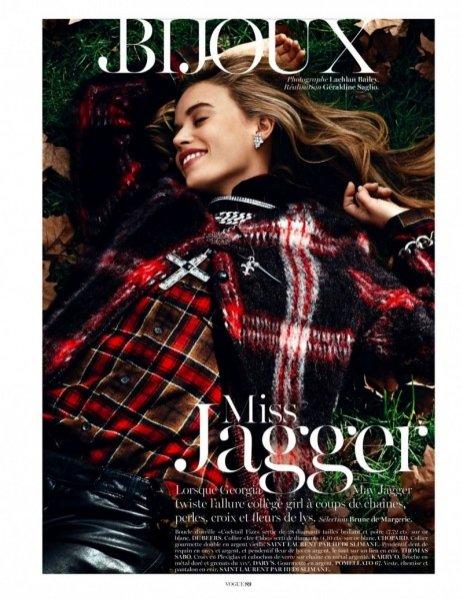 Georgia May Jagger w biżuteryjnej sesji dla sierpniowego Vogue Paris