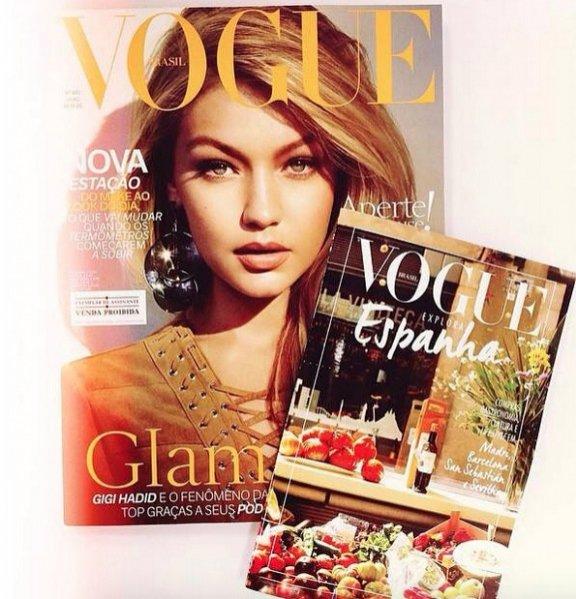 1. Gigi Hadid na okładce lipcowego wydania Vogue Brasil