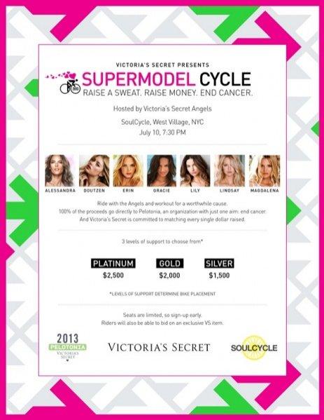 Victoria's Secret SoulCycle - charytatywna przejażdżka z Victoria's Secret