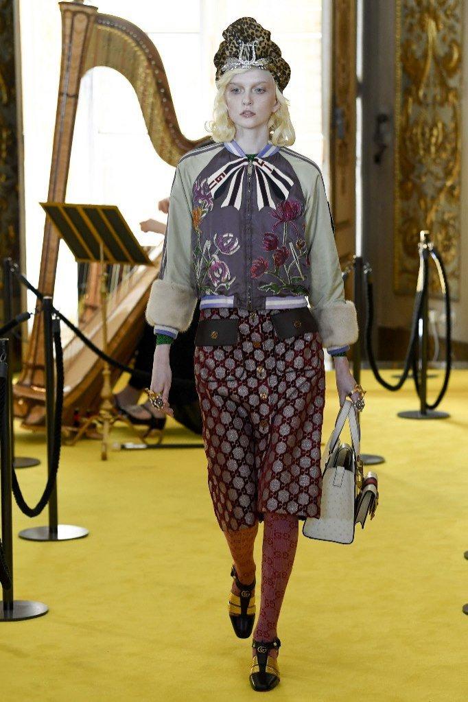 Weronika Kulas z United for Models na wybiegu u Gucci