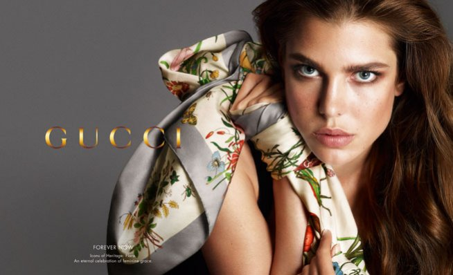 Charlotte Casiraghi w kampanii Gucci Forever Now