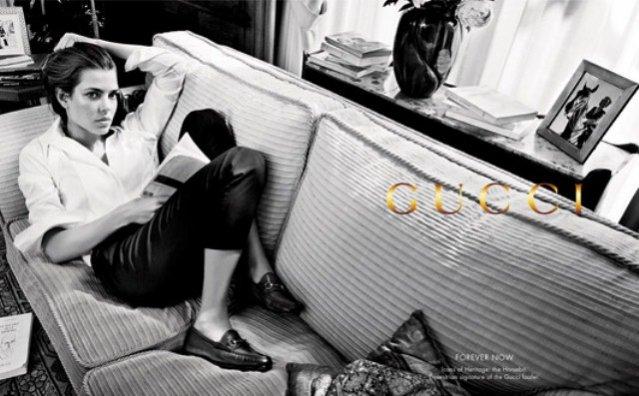 Charlotte Casiraghi w kampanii Gucci