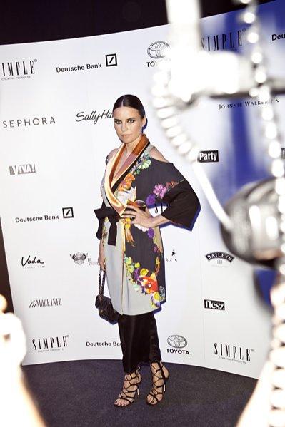gwiazdy na pokazie Simple Creative Products jesień zima 2013/14 - Joanna Horodyńska