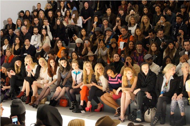New York Fashion Week - front row (6 od lewej Kate Nash)