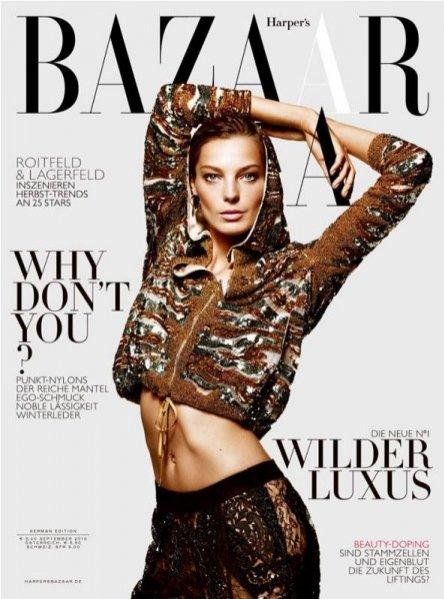 Daria Werbowy w premierowym numerze Harper's Bazaar Germany