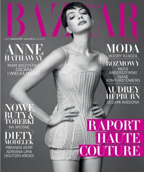 Anne Hathaway na okładce kwietniowego numeru Harper's Bazaar Polska