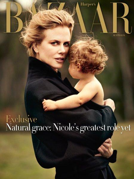 Nicole Kidman z dziećmi w sesji dla Harper's Bazaar
