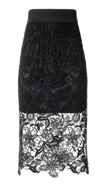 ZŁOTE TARASY - najnowsze trendy jesień zima 2013/2014 - spódnica, H&M