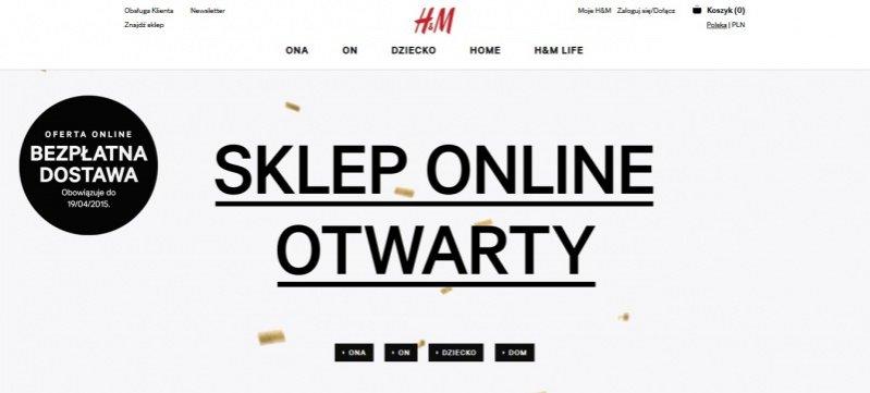 Ruszył sklep H&M online w Polsce