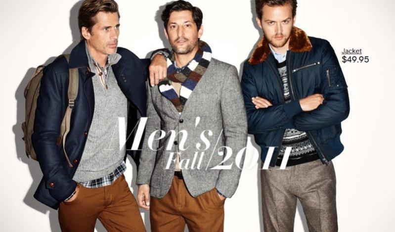 Mark Vanderloo, Tony Ward i Jamie Strachan w kampanii H&M jesień zima 2011