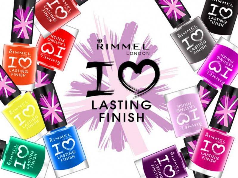 Lakiery z kolekcji Rimmel I Love Lasting Finish/ cena 9,99 PLN