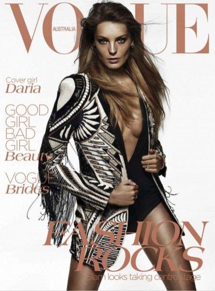 Daria Werbowy w Vogue Australia