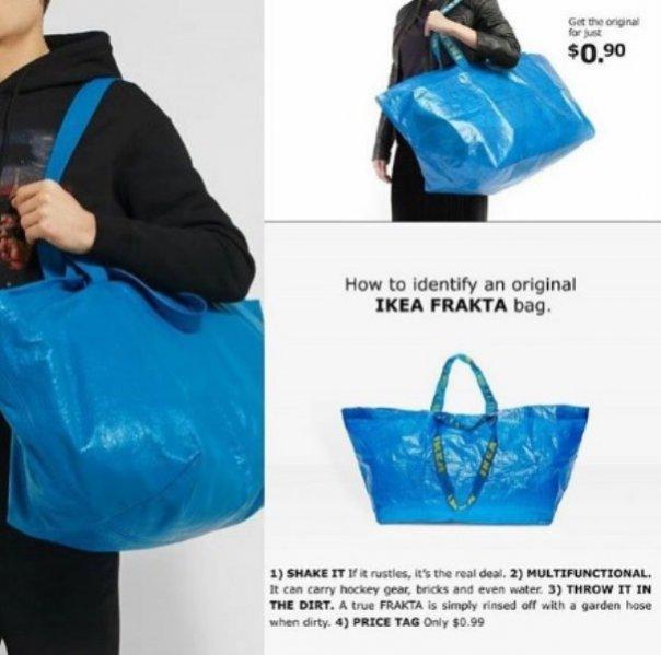 Nowa torba Balenciagi do złudzenia przypomina popularną torbę z Ikei