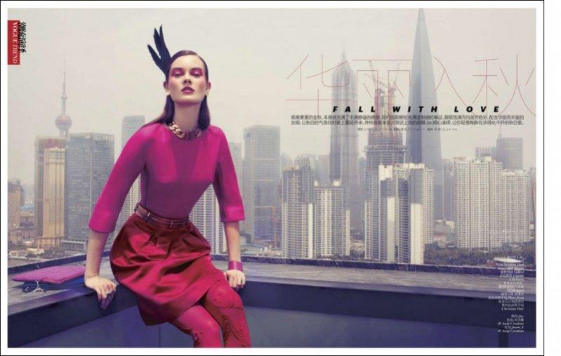 Monika Jac Jagaciak w sierpniowym Vogue China