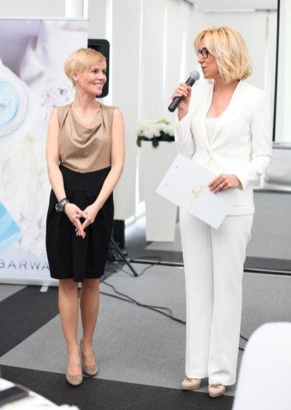 Agata Młynarska na spotkaniu prasowym z marką Barwa