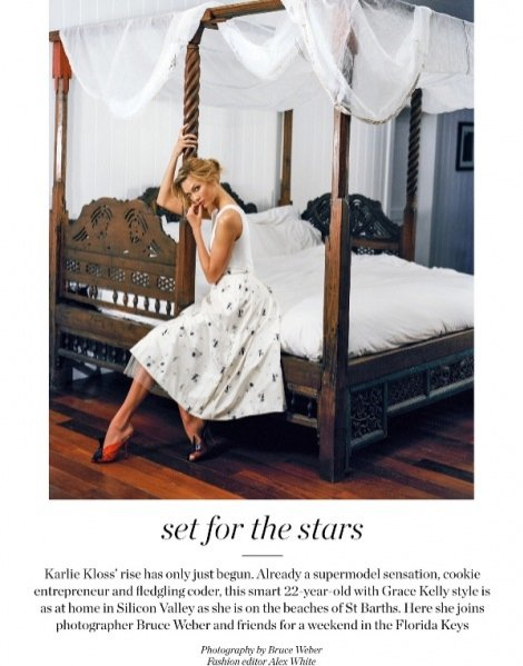 1. Karlie Kloss w sesji dla letniego Porter Magazine
