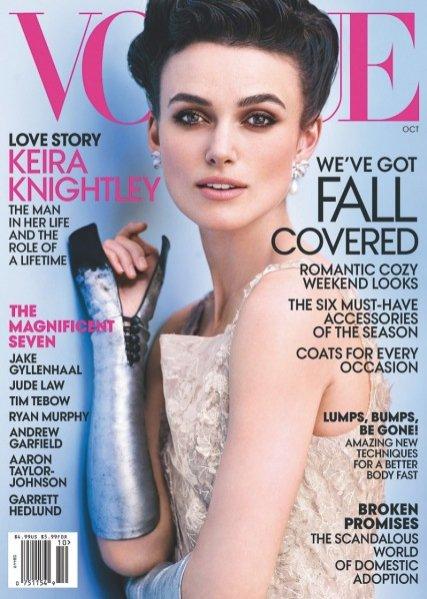 Keira Knightley na okładce Vogue US październik 2012