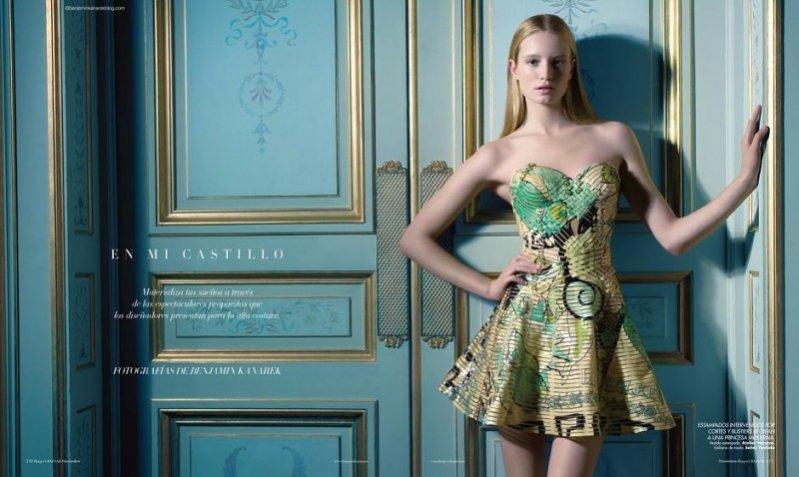 Maud Wenzel w listopadowym Harper's Bazaar España