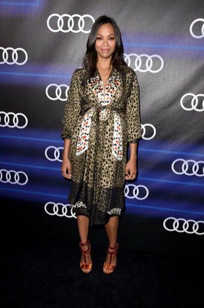 Zoe Saldana na imprezie Audi Emmy Week Celebration