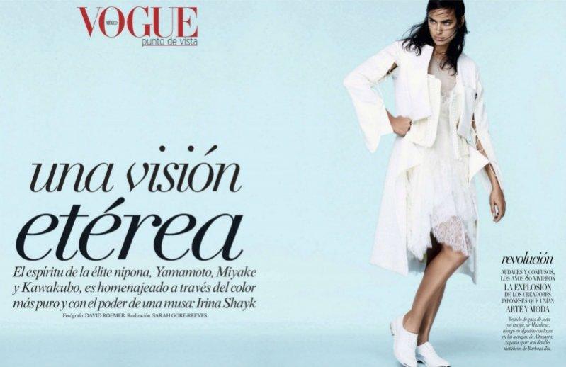 1. Irina Shayk w okładkowym edytorialu Vogue Mexico styczeń 2014