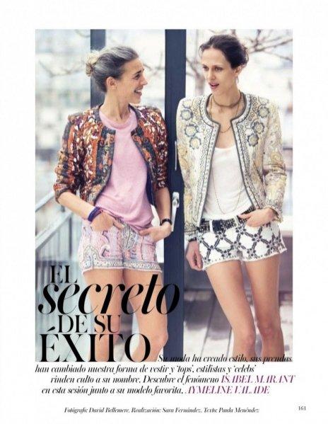 Isabel Marant i Aymeline Valade w sesji dla Vogue Spain czerwiec 2013