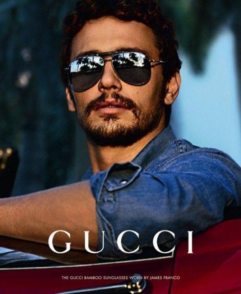 James Franco w kampanii okularów Gucci Black Bamboo