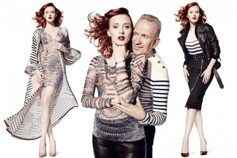 1. Karen Elson i Jean Paul Gaultier w kampanii kolekcji JPG dla Lindex