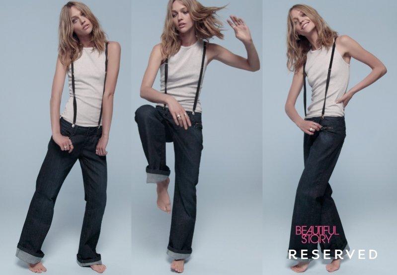 Sasha Pivovarova w jeansowej odsłonie jesiennej kampanii Reserved