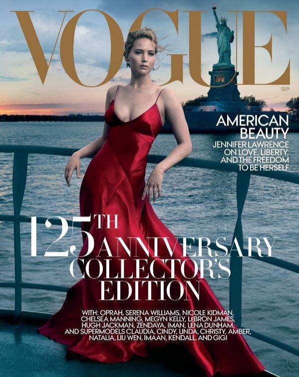 Jennifer Lawrence (Vogue September 2017) w obiektywie Annie Leibovitz