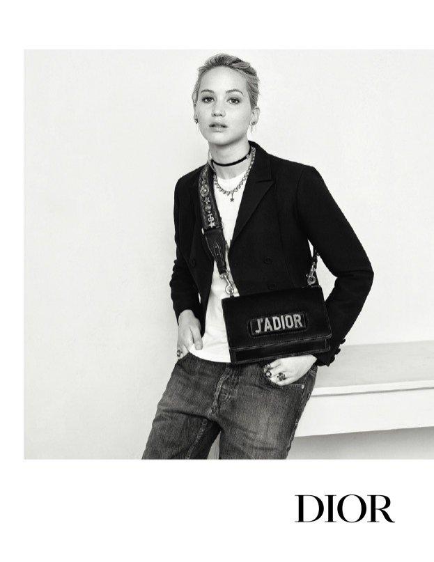 Jennifer Lawrence - kampania torebek Dior jesień 2017