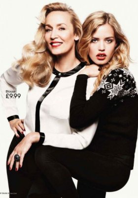H&M HOLIDAY COLLECTION Z JERRY HALL I GEORGIĄ MAY JAGGER