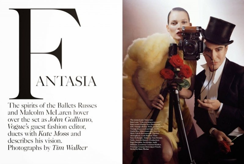 1.John Galliano i Kate Moss w Vogue UK, grudzień 2013