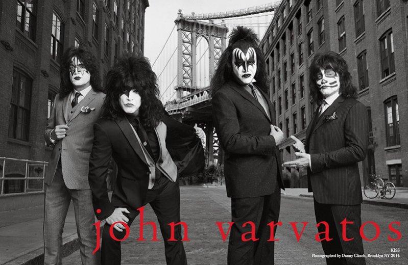 """1. John Varvatos - kampania """"Dressed to Kill"""" z udziałem zespołu Kiss"""
