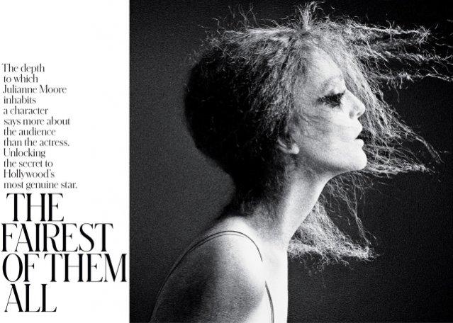 Julianne Moore w NY Times T Style Magazine