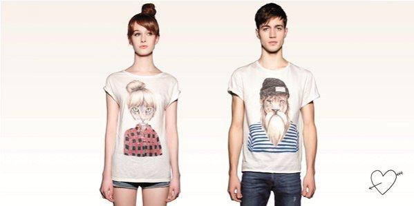 Walentynkowa kolekcja t-shirtów marki Pull&Bear