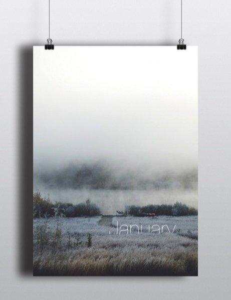 Perpetual Calendar - projekt Arina Pozdnyak - styczeń