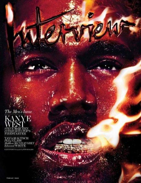 1. Kanye West w okładkowej sesji Interview Magazine - luty 2014