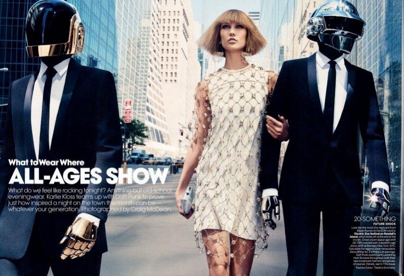 Karlie Kloss & Daft Punk - wspólna sesja dla Vogue US sierpień 2013