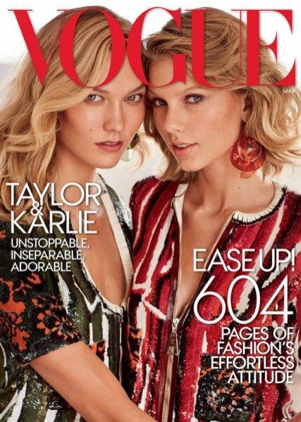 1. Taylor Swift i Karlie Kloss dla Vogue US - okładkowa sesja z marcowego numeru