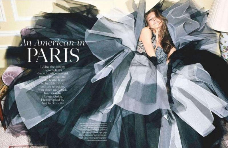 Karlie Kloss w edytorialu Amerykanka w Paryżu w Vogue UK Maj 2012