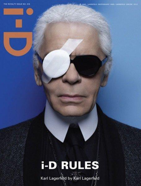 Karl Lagerfeld na okładce i-D