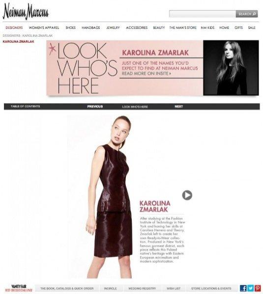 projekty Karoliny Zmarlak w Neiman Marcus