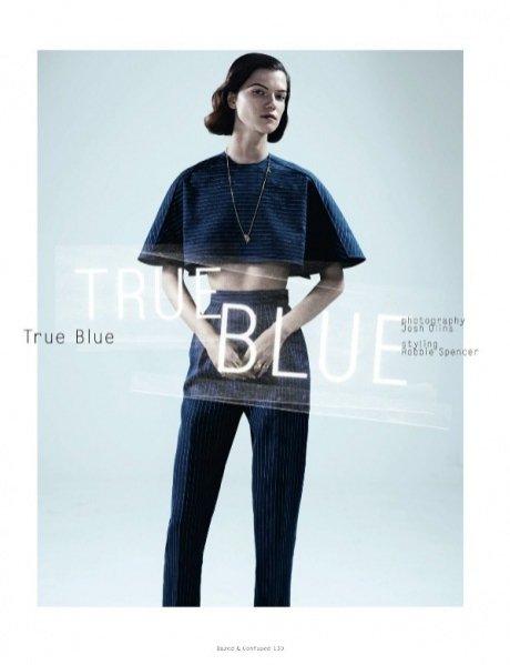 Kasia Struss w sesji True Blue dla Dazed&Confused
