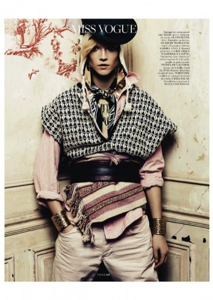 Kasia Struss w kwietniowym edytorialu Vogue Paris