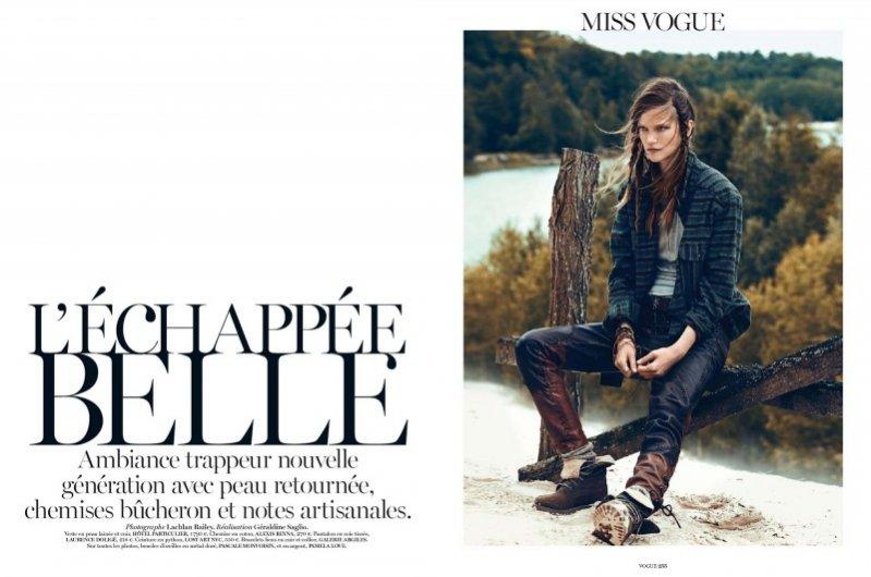 Kasia Struss dla wrześniowego Vogue Paris