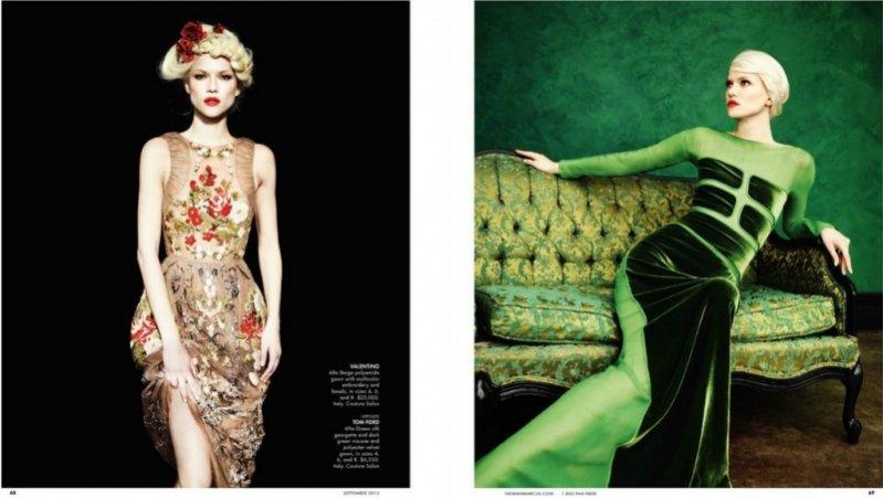 Kasia Struss we wrześniowym katalogu Neiman Marcus