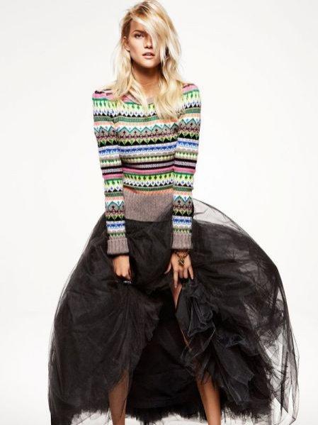 Kasia Struss w lookbooku świątecznej kolekcji Juicy Couture