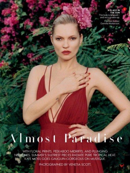 """1. Kate Moss w sesji """"Almost Paradise"""" dla majowego numery Vogue US"""